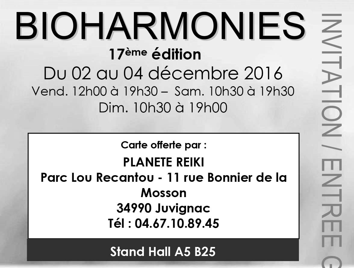 Salon bioharmonies montpellier d cembre 2016 bien etre for Salon bio montpellier